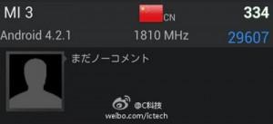 小米3XiaoMi3 Benchi40