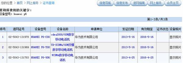 Huawei Ascend P6 1